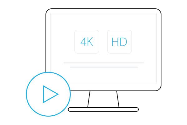 4K/HD動画再生