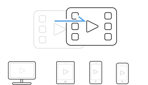 デバイス対応の動画形式に出力